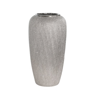"Link to Sagebrook Home 13826-03 Ceramic 12.25"" Vase , Silver Ceramic, 6.25 X 6.25 X 12.25 Inches Similar Items in Decorative Accessories"