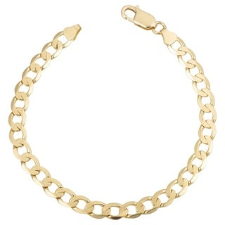 Fremada Italian 18k Yellow Gold Curb Link Bracelet (6mm, 8.25 inches)