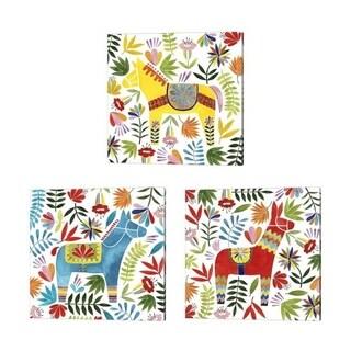 Grace Popp 'Festive Otomi' Canvas Art (Set of 3)