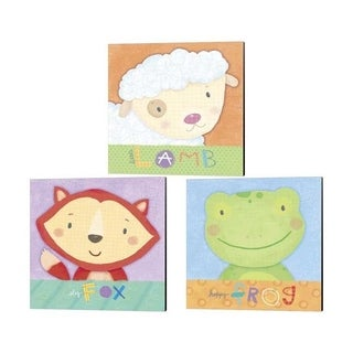 Holli Conger 'Baby Animals' Canvas Art (Set of 3)