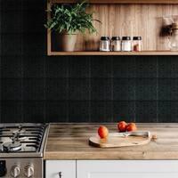 SomerTile 7.75x7.75-inch Triple Valverde Black Ceramic Wall Tile (25 tiles/11 sqft.)