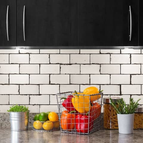 SomerTile 3x6-inch Ambroise Ceramic Wall Tile (60 tiles/8.46 sqft.)