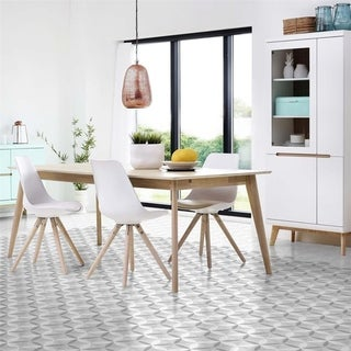SomerTile 5.875x6.75-inch Botnen Hex Decor Stella Porcelain Floor and Wall Tile (30 tiles/6.77 sqft.)