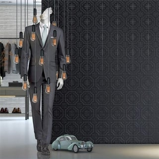 SomerTile 7.75x7.75-inch Triple Real Black Ceramic Wall Tile (25 tiles/11 sqft.)