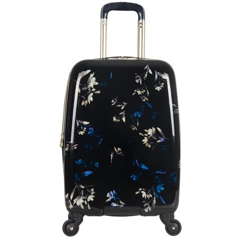 Aimee Kestenberg Midnight Floral Lightweight Hardside Expandable 4-Wheel Spinner 20in Carry On Suitcase