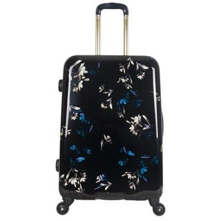 Aimee Kestenberg Midnight Floral 24-inch Expandable Hardside Spinner Suitcase