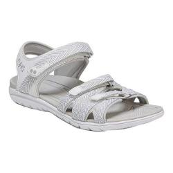 Women's Ryka Savannah Strappy Sandal White/Grey PU/Fabric (More options available)