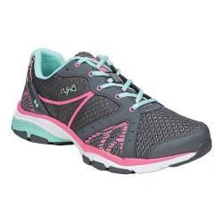 Women's Ryka Vida RZX Cross Trainer Grey/Pink/Mint Mesh/PU