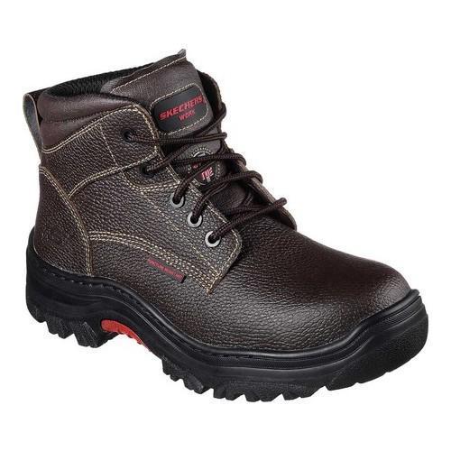 Men's Skechers Work Burgin Tarlac Steel Toe Boot Brown