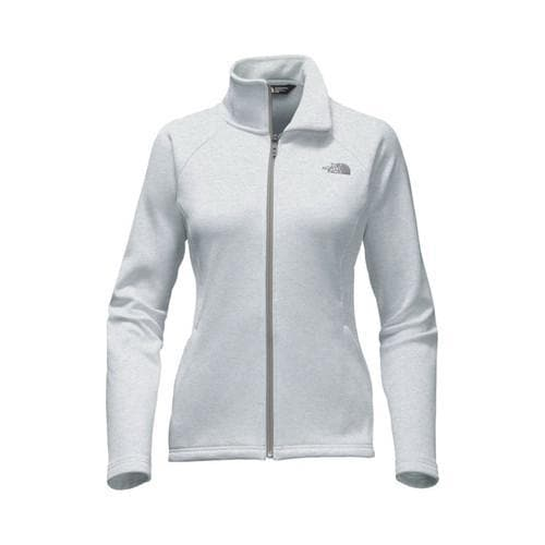 8e6715187 Women's The North Face Agave Full Zip Jacket TNF Light Grey Heather/Mid Grey