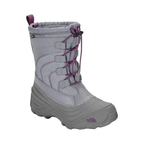 Alpenglow IV Boot, Frost Grey/Wood Violet, 1 M US Boys The North Face