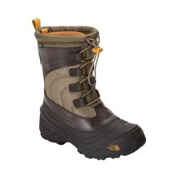 Children's The North Face Alpenglow IV Boot Burnt Olive Green/Arrowwood Yellow