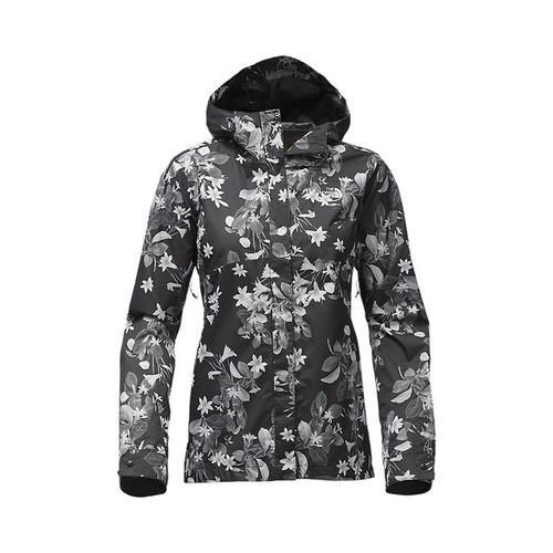 b5ef5df77fc6 Shop Women s The North Face Berrien Rain Jacket TNF Black Late Bloomer Print  - Free Shipping Today - Overstock - 19390543