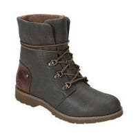 Women's The North Face Ballard Lace II Coated Canvas Lace Up Boot Burnt Olive Green/Cub Brown