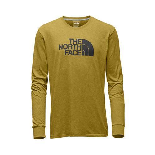 a093d3b54 Men's The North Face Long Sleeve Half Dome Tee Arrowwood Yellow  Heather/Asphalt Grey