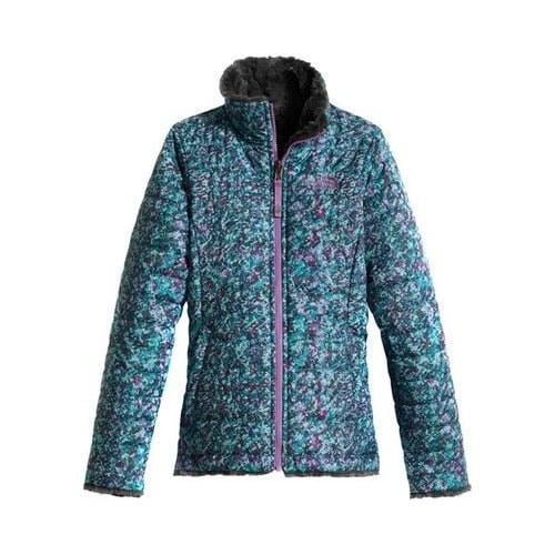 bfc6b492c3ac Shop Girls  The North Face Reversible Mossbud Swirl Jacket Algiers ...