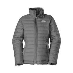 Girls' The North Face Reversible Mossbud Swirl Jacket TNF Black