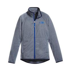 Boys' The North Face Tech Glacier Full Zip Cosmic Blue Heather - Thumbnail 0