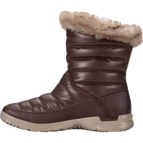 Women's The North Face Thermoball Microbaffle Bootie II Shiny Coffee Bean Brown/Dune Beige - Thumbnail 1