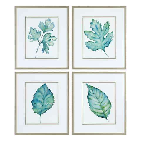 Uttermost Spring Leaves Prints (Set of 4)