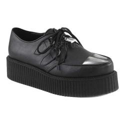 Men's Demonia V Creeper 515 Oxford Black Vegan Leather