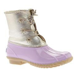 Women's Jack Rogers Chloe Duck Boot Lilac Metallic Leather/Rubber