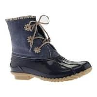 Women's Jack Rogers Chloe Duck Boot Midnight Metallic Leather/Rubber