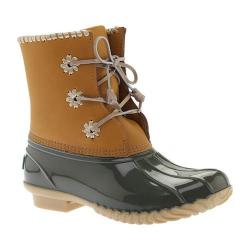 Women's Jack Rogers Chloe Duck Boot Olive Leather/Rubber