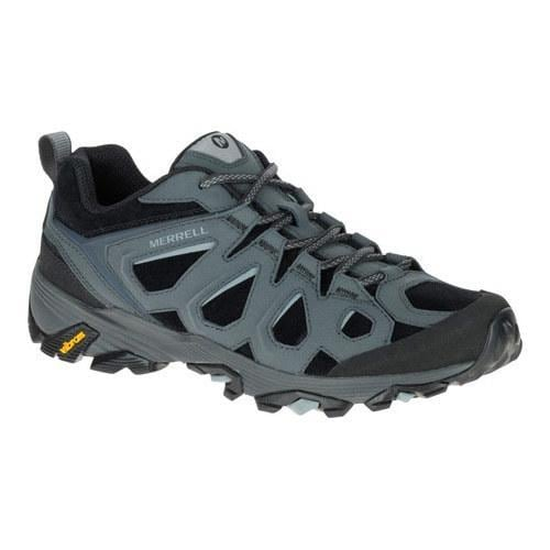 4316dc57a1 Shop Men's Merrell Moab FST Leather Hiking Shoe Black/Granite - Free  Shipping Today - Overstock - 19408354