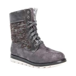 Women's MUK LUKS Christy Mid Calf Boot Grey/Multi Polyester Faux Suede