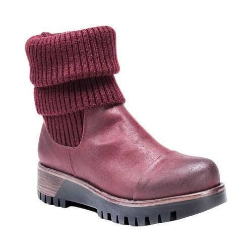 Women's MUK Luks Katherine Mid Calf Boot Burgundy (Red)/S...
