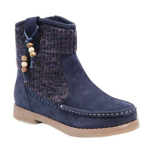 Shop Women s MUK LUKS Kellie Ankle Boot Navy Marl Faux Suede - On Sale -  Free Shipping Today - Overstock.com - 19408371 b74056db9b