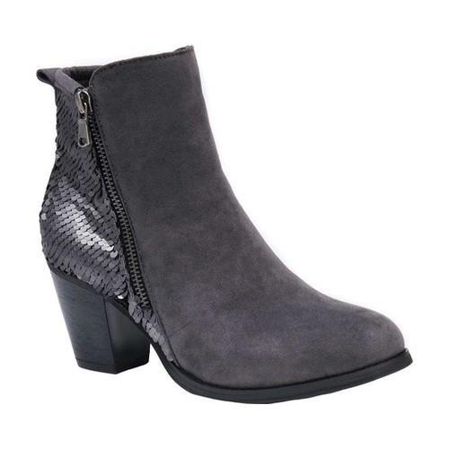 b3153c88fa48 Shop Women s MUK LUKS Lizzie Bootie Pewter Sequins Polyester Faux  Suede Plastic - Free Shipping Today - Overstock - 19408372
