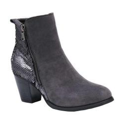 Women's MUK LUKS Lizzie Bootie Pewter/Sequins Polyester Faux Suede/Plastic