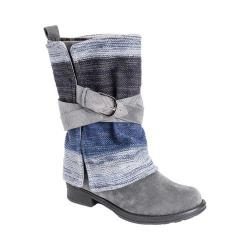 Women's MUK LUKS Nikita Mid Calf Boot Grey/Ombre Polyester