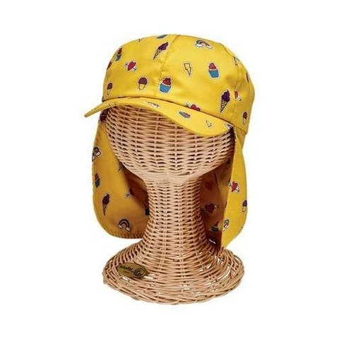 Children's San Diego Hat Company All Over Print Cap with Neck Cover CTK4195 Yellow