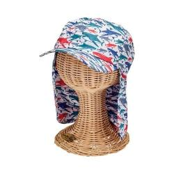 Children's San Diego Hat Company All Over Print Cap with Neck Cover CTK4195 Multi