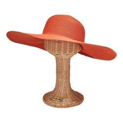 Women's San Diego Hat Company Ultrabraid Sun Brim Hat with Gathered Back UBL6487 Coral