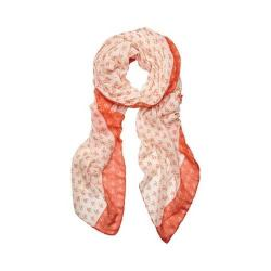 Women's San Diego Hat Company Woven Anchor Scarf BSS1697 Coral