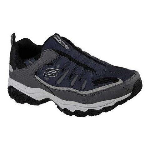 Men's Skechers After Burn M. Fit Slip-On Walking Shoe Navy/Gray