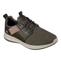 Men's Skechers Delson Camben Slip-On Sneaker Olive