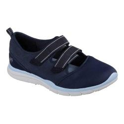 Women's Skechers Gratis Cloud Psyched Up Two Strap Sneaker Navy/Light Blue