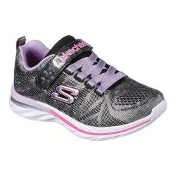 Girls' Skechers Quick Kicks Shimmer Dance Sneaker Black/Multi