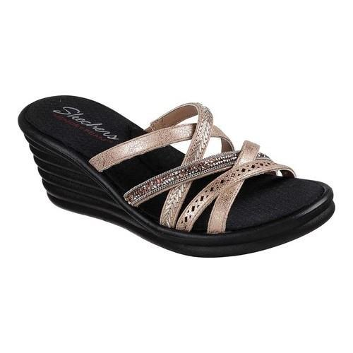 Women's Skechers Rumblers Wave New Lassie Slide Wedge Sandal ...
