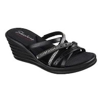 f9e4debc1455 Shop Women s Skechers Rumblers Cali Spell Wedge Sandal Black - Ships ...