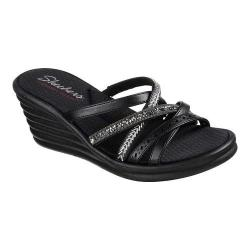 Women's Skechers Rumblers Wave New Lassie Slide Wedge Sandal Black