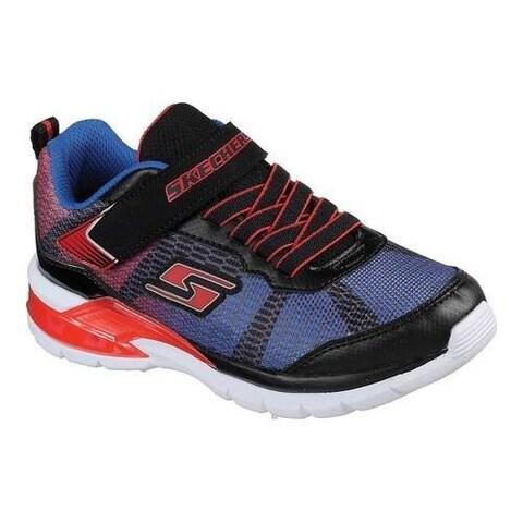Boys' Skechers S Lights Erupters II Lava Waves Sneaker Black/Red/Blue