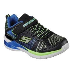 Boys' Skechers S Lights Erupters II Lava Waves Sneaker Black/Blue/Lime