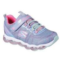 Girls' Skechers S Lights Glimmer Lites Sneaker Periwinkle/Multi