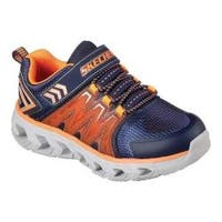 Boys' Skechers S Lights Hypno-Flash 2.0 Sneaker Navy/Orange